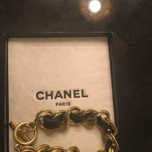 CHANEL Jewelry - Authentic nib rare chanel Black & gold bracelet